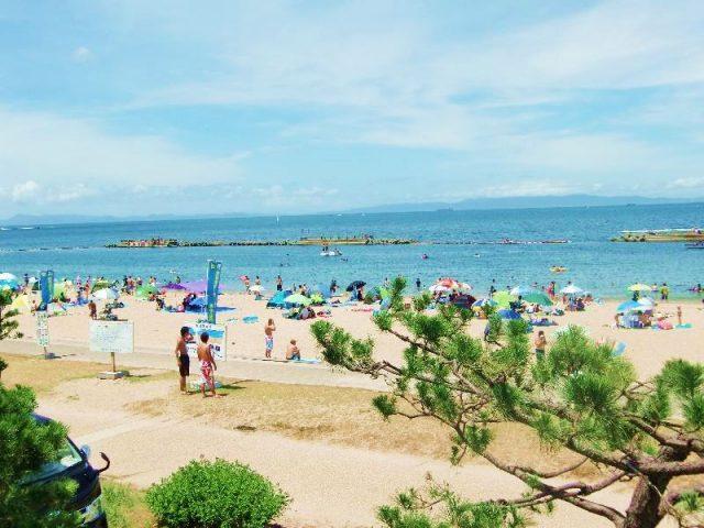 大阪の有名な海水浴場