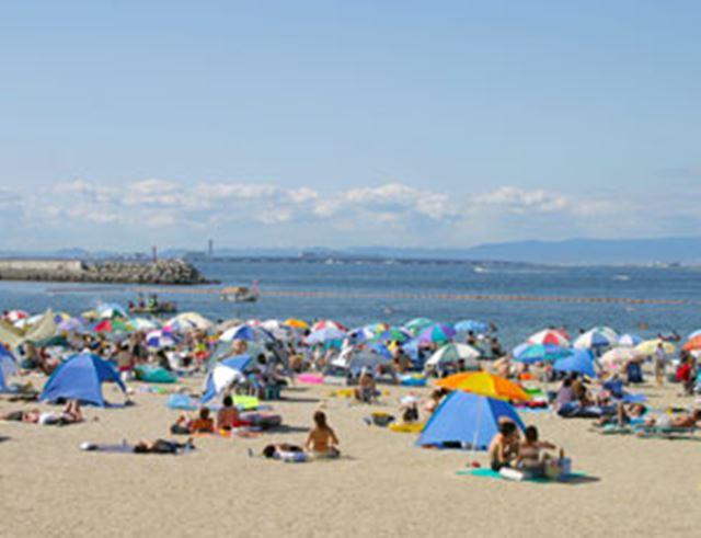 大阪の海水浴場であるタルイサザンビーチ