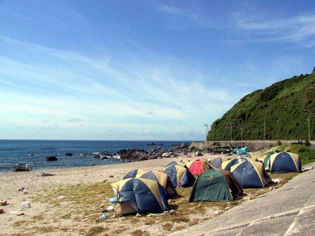 神津島の長浜キャンプ場