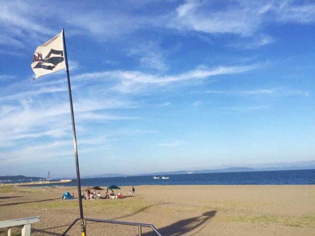 三浦海岸海水浴場と旗