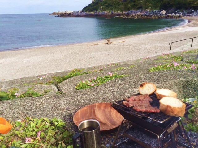 神津島の沢尻湾キャンプ場