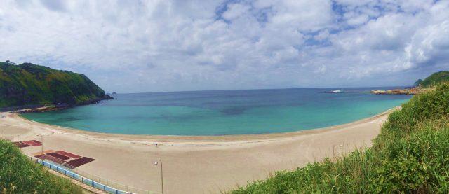 神津島のメインビーチ
