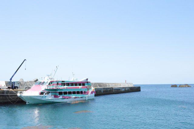神津島にくるジェット船