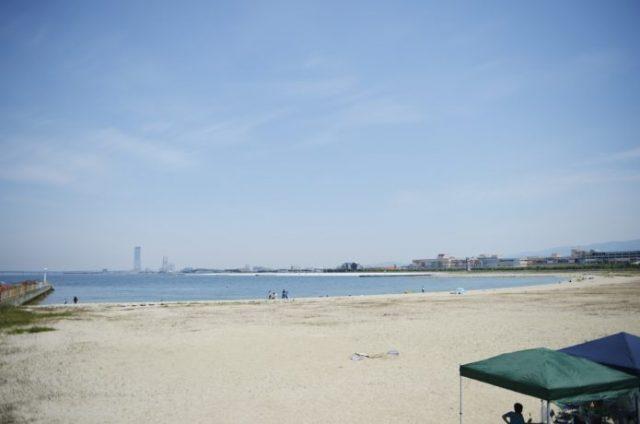 大阪の有名なタルイサザンビーチという海水浴場
