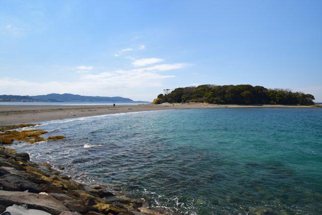 千葉の沖ノ島海水浴場