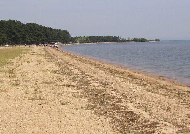 関西の近江白浜水泳場
