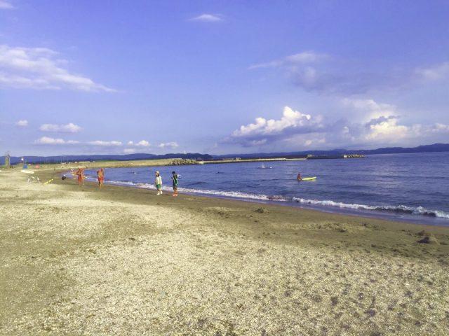 富津海水浴場と人