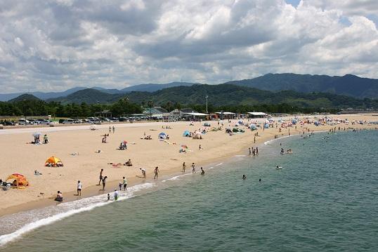 関西の片男波海水浴場