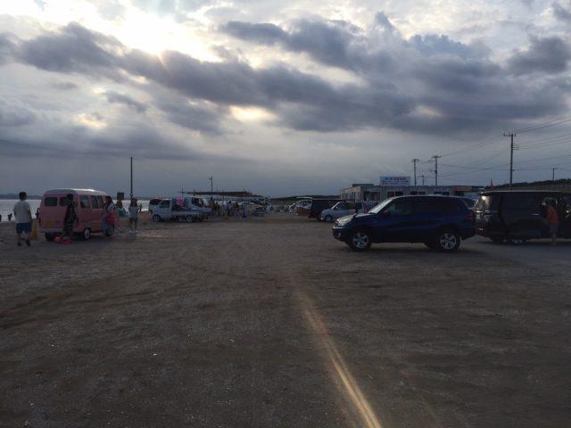 富津海水浴場の駐車場