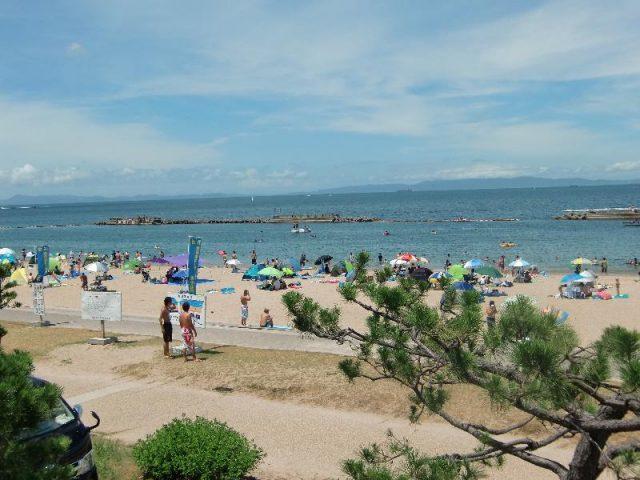 関西の有名海水浴場「ぴちぴちビーチ」