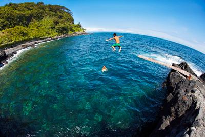 関東にある大島の海水浴場