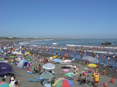 関東の大磯海水浴場