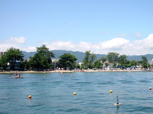 関西の真野浜海水浴場