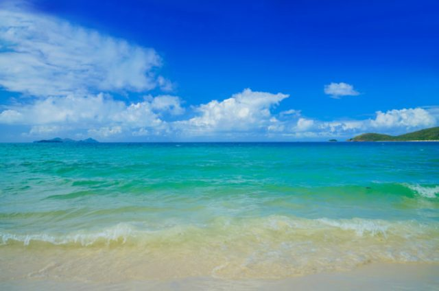 ハミルトン島のキャッツアイビーチ