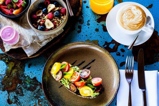 ハミルトン島のクオリアホテルの朝食