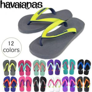 ハワイアナスのキッズ用カラフルビーチサンダル