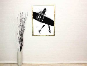 サーフボード系のポスターを使ったインテリア