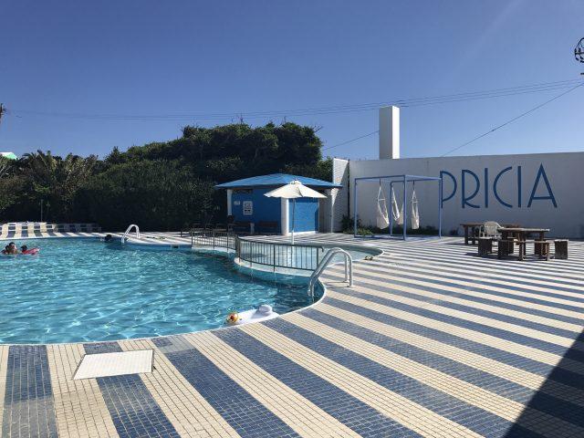 与論島の可愛い観光スポットであるプリシアリゾートヨロン