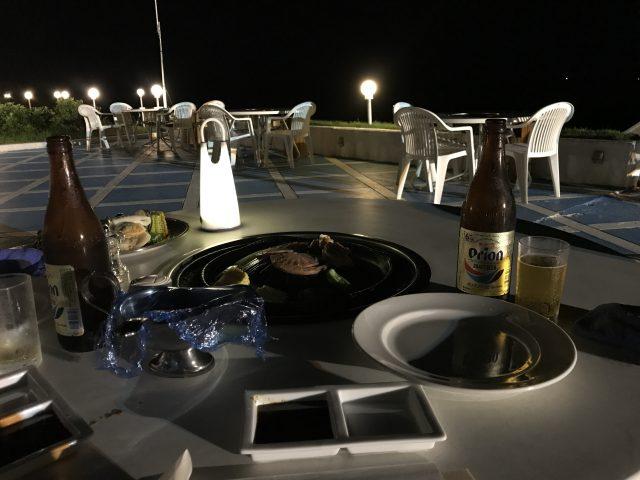 与論島旅行で食べた最後の夕食