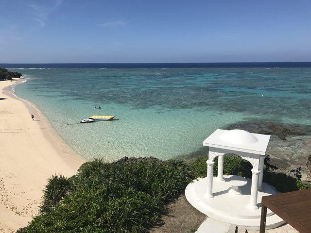 プリシアリゾートヨロンのプライベートビーチ