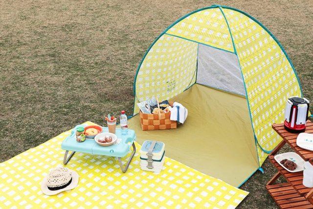 おしゃれなサンシェードテントでピクニック