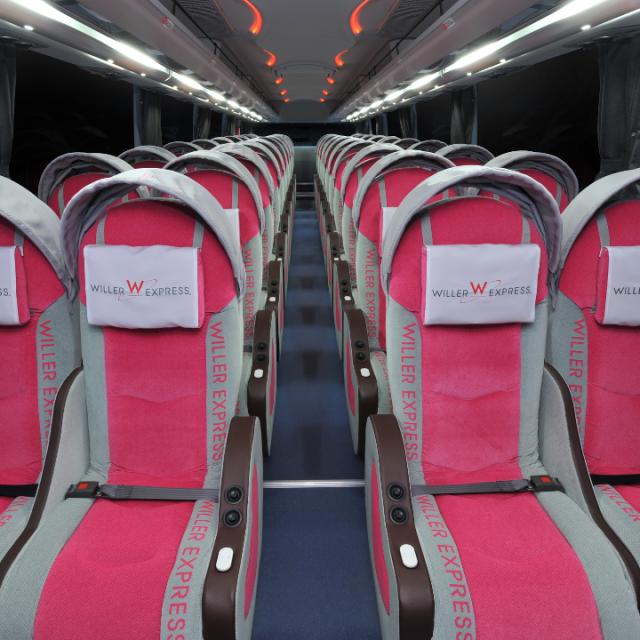 与論島旅行で使ったシャトルバスの中