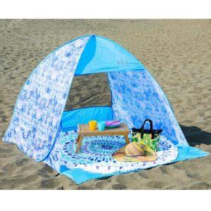 青い可愛いサンシェードテント