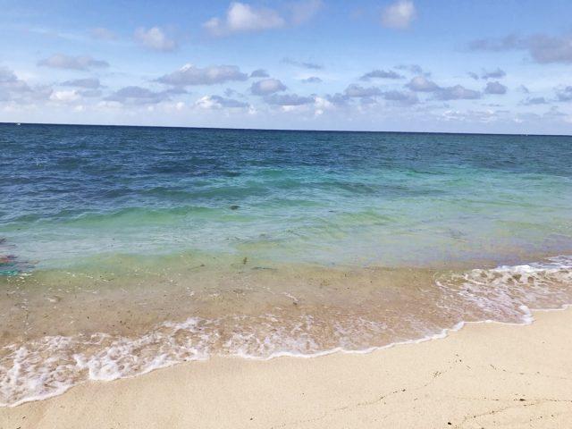 与論島旅行で行った海
