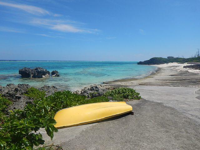 与論島旅行で行ったビーチ