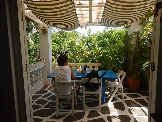 与論島旅行で休憩した場所