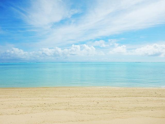 与論島旅行で見た綺麗な海