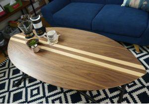 ハワイアンインテリアに合うサーフボードテーブル