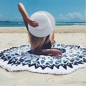 海の持ち物のラウンドビーチタオル