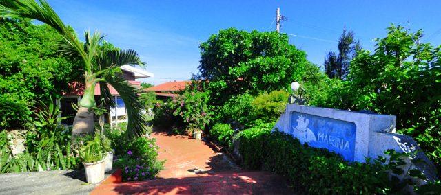 与論島のホテルのマリナデルレイの外観