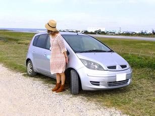 与論島のプリシアリゾートヨロンで貸し出しているレンタカー