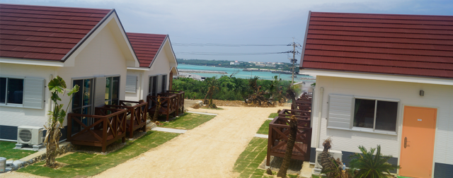 与論島の新しいホテル