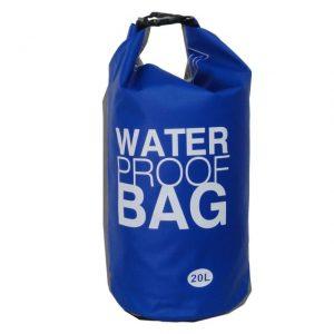 青い防水バッグ