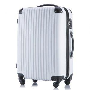 白いかわいいスーツケース