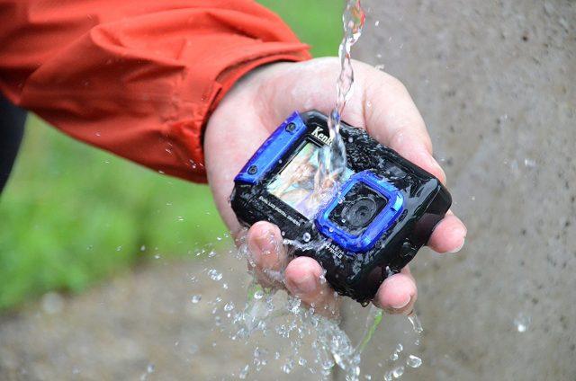 水に濡れても平気な防水カメラ