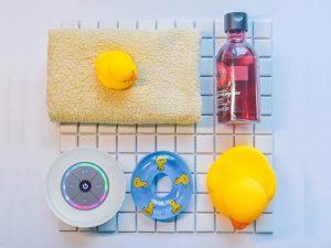 防水スピーカーとお風呂セット