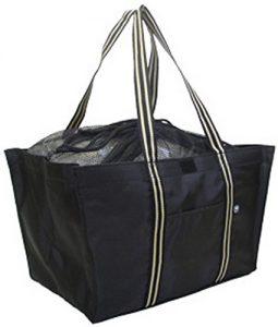 黒いシンプルなエコバッグ