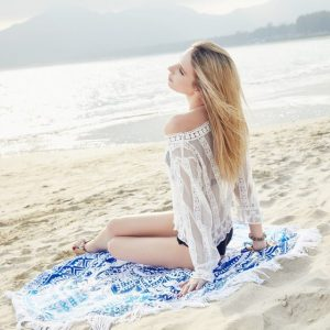 可愛いビーチタオル