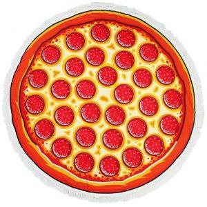 ピザ柄ビーチタオル