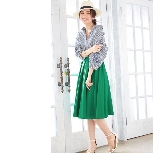 プチプラ通販のカラフルで可愛いスカート