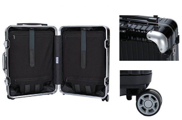 黒いカッコイイリモワのおしゃれスーツケース