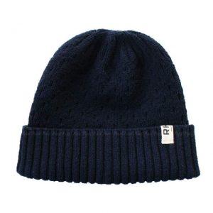 ネイビーのロンハーマンニット帽