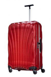 赤くておしゃれなスーツケース