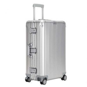 シルバーのおしゃれで洗練されたスーツケース