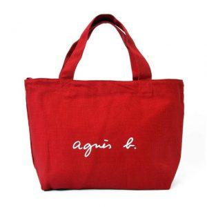 赤いミニトートバッグ
