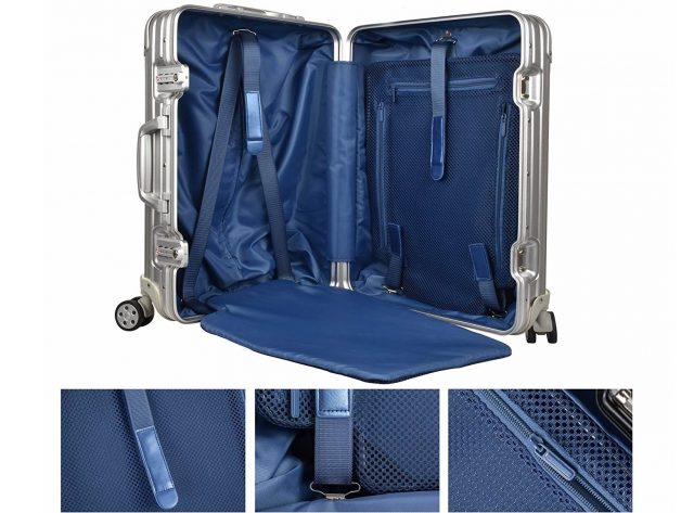 アルミニウムのおしゃれなスーツケース